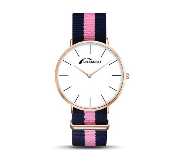 同款dw尼龙手表定做_超薄时尚帆布带手表
