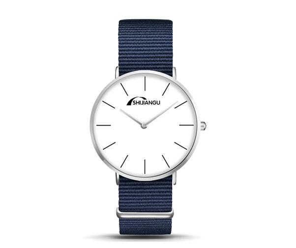尼龙带石英手表定做_英伦风运动石英手表
